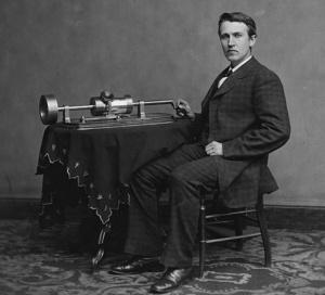 Thomas Edison der Erfinder des Phongraphen